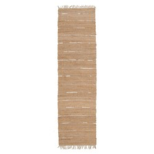 Saville Jute and Silver Leather Natural Rug