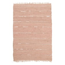 Saville Jute and Leather Nude Pink Rug