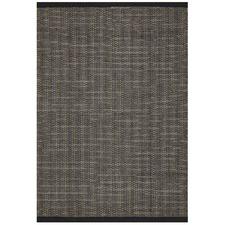Black Alpine Scandinavian Wool Flat Woven Rug
