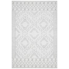 Natural White & Grey Textured Ida Rug