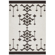 Monochrome Cross Stitch Freja Rug