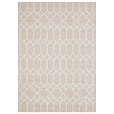 Nude & Natural White Upcycled Textured Vera Rug