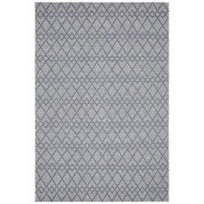 Denim & Grey Textured Juni Wool Rug