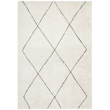 Ivory & Charcoal Super Soft Moroccan-Style Rug