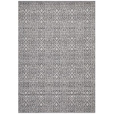 Graphite & Silver Hand-Woven Modern Tribal Rug