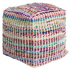 Vivid Upcycled Cotton Ottoman
