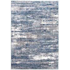 Sungari Blue Soft Power Loomed Modern Rug