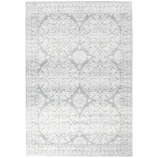 Oxus Silver & Grey Power Loomed Modern Rug