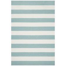 Icy Flat Weave Stripe Rug