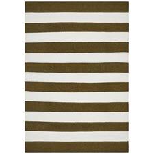 Earthy Flat Weave Stripe Rug