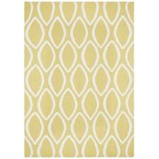Flat Weave Oval Print Rug