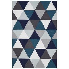 Prism Flat Weave Rug Blue