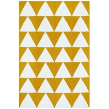 Pyramid Flat Weave Rug Yellow