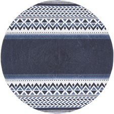 Navy Naval Hand Braided Cotton Rug