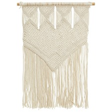 Natural Tribal Macrame Fringed Wall Hanging