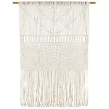 Coastal Macrame Fringed Wall Hanging