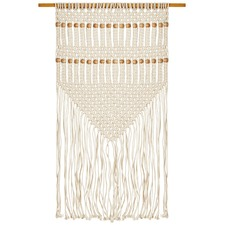 Scandi Beaded Fringed Wall Hanging