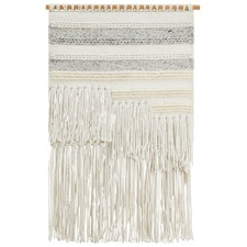 Silk Scandi Textured Fringed Wall Hanging