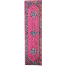 Pink Power Loomed Distressed Modern Rug