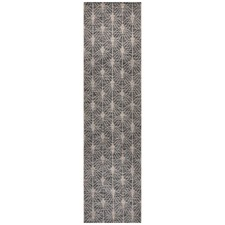 Black & Natural Art Deco Flat Woven Rug