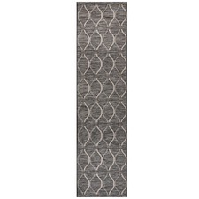 Black & Natural Trellis Flat-Woven Rug