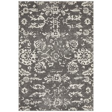 Grey Vintage Look Power Loomed Rug
