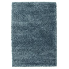 Blue Shag Power Loomed Rug