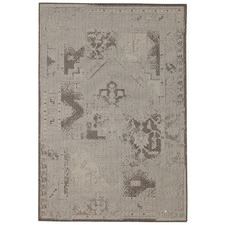 Neutral Vintage Look Flat Woven Rug