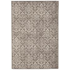 Grey Vintage Look Flat Woven Rug