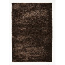 Brown Shag Hand Tufted Rug