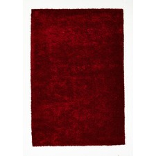 Red Shag Hand Tufted Rug