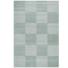 Wool Hand Tufted Rug - Box Seafoam