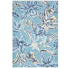 Antoinette Blue & Yellow Hand Tufted Recycled PET Outdoor Rug