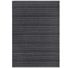 Melodee Charcoal Hand Woven Flatweave Wool Rug