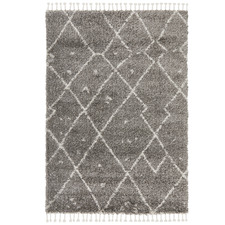 Pebble Grey Samira Fringed Rug