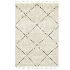 Natural Tan & Brown Nahla Fringed Rug