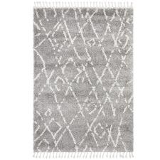 Silver & Ivory Zohra Fringed Rug