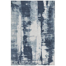 Denim Blue Matisse Jacquard Cotton Rug