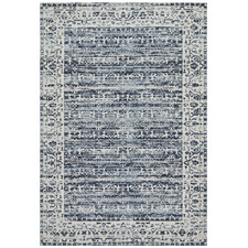 Denim Blue Duchamps Jacquard Cotton Rug
