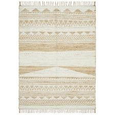 White Michihoaca Flat Weave Jute & Cotton Rug