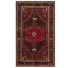 Red Toyserkan Vintage Hand-Knotted Wool Rug