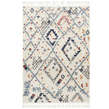 White Diamond Plush Moroccan Rug