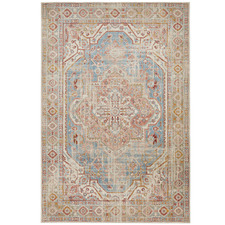 Blue Power-Loomed Rug