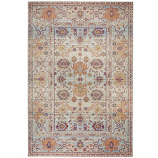 Multicolour Power-Loomed Rug