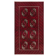 Wine Hand-Knotted Wool Balouchi Rug