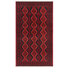 Faded Red Wool Balouchi Rug