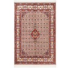 Red & Cream Wool Persian Moud Rug