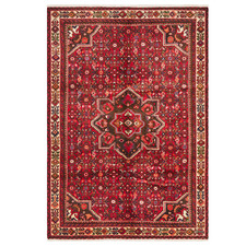 Red & Cream Wool Hosseinabad Rug