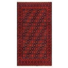 Maroon Hand-Knotted Wool Balouchi Rug
