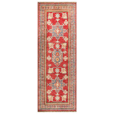 Red & Yellow Wool Kazak Rug